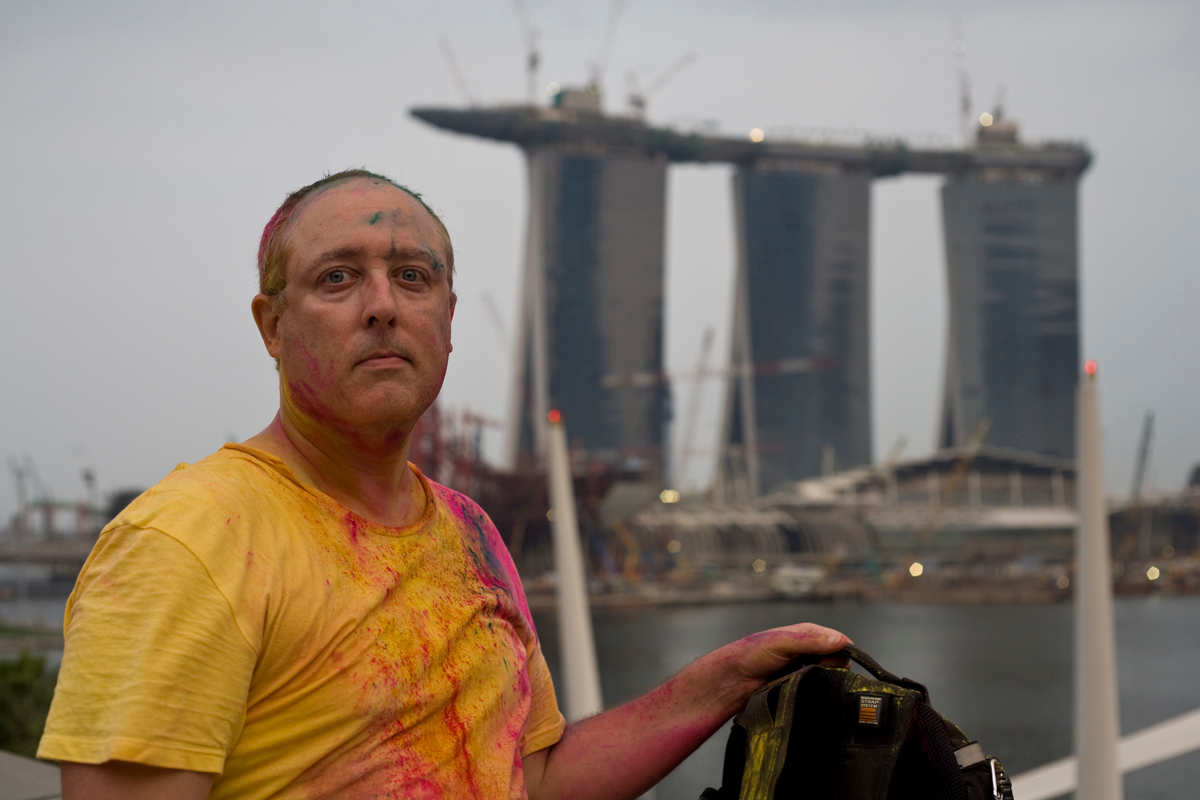 Filled with color at Singapore's Holi Festival