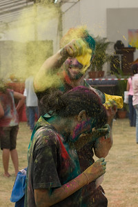 A shower of colors at the Singapore Holi Festival
