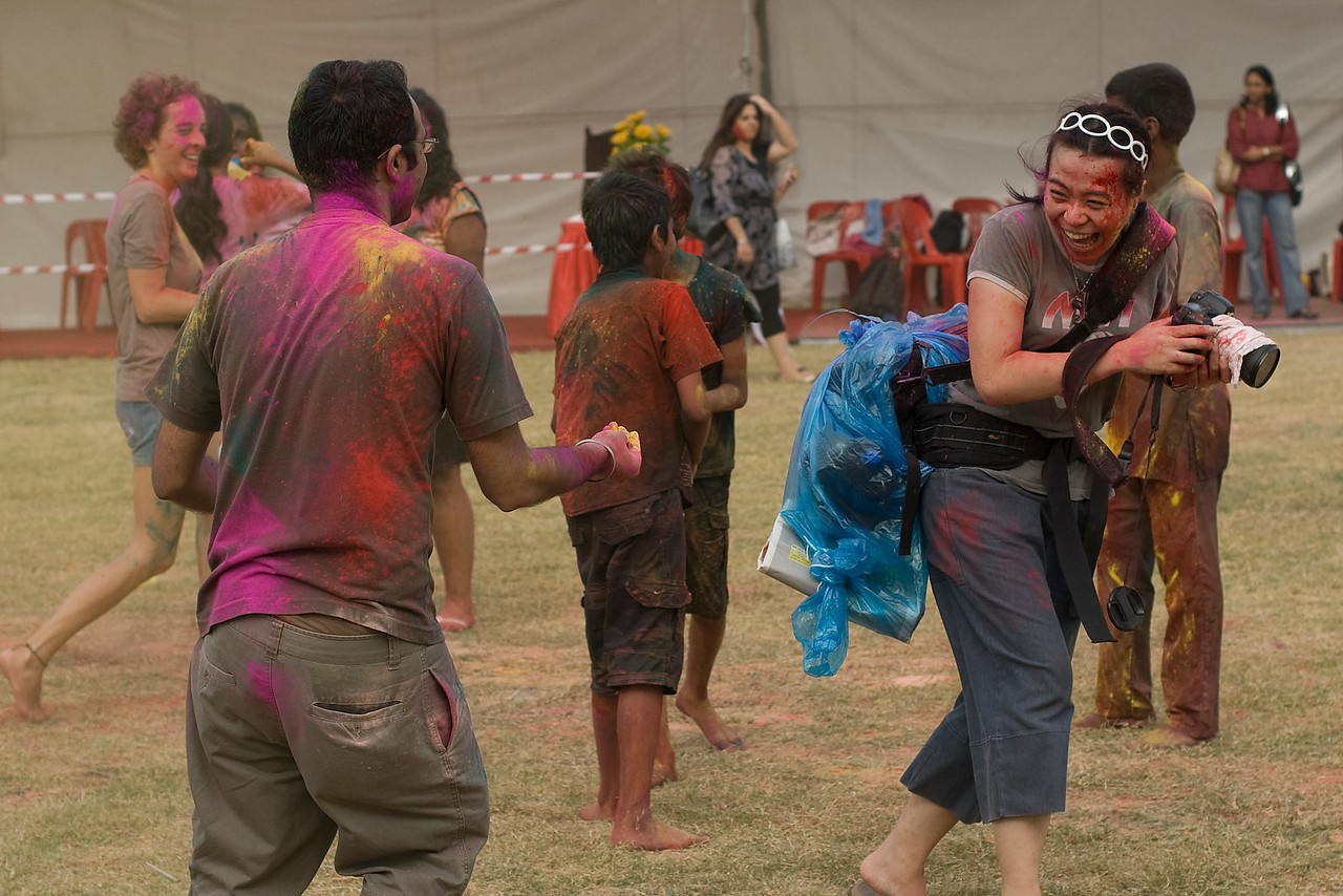More color splashing action at Singapore Holi Festival