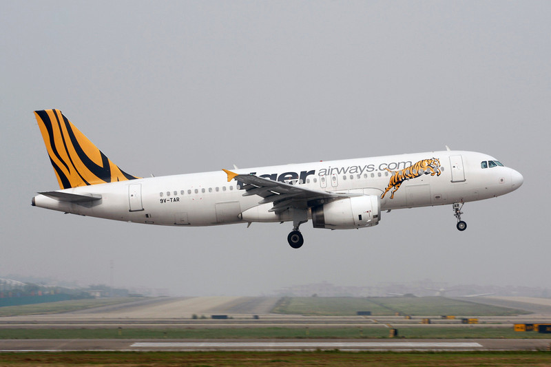 "9V-TAR Airbus A320-232 ""Tiger Airways"" c/n 4491 Guangzhou/ZGGG/CAN 14-11-12"