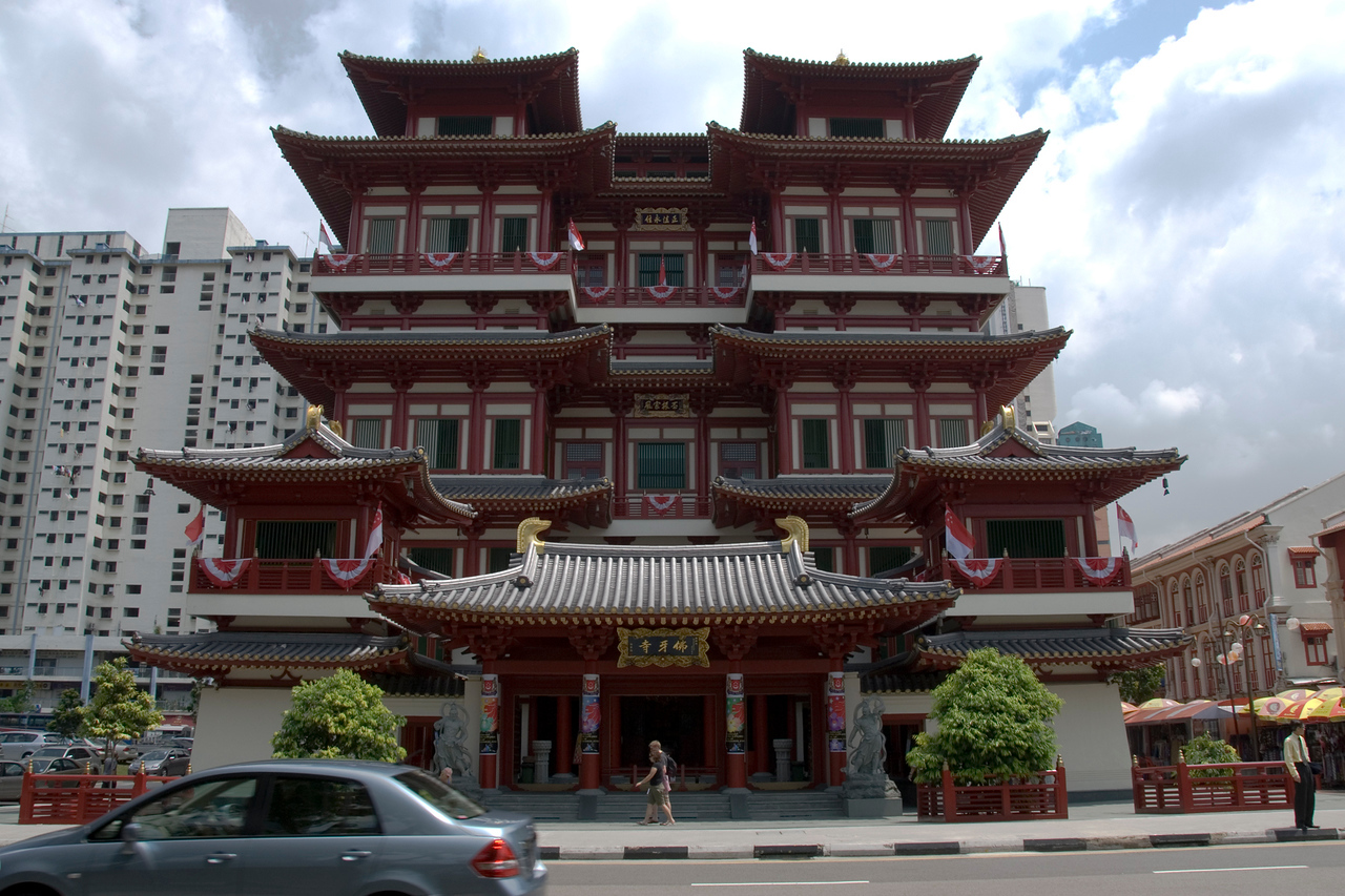 The main temple at Chinatown in Singapore