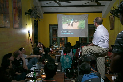 Raw picture of slideshow presentation in Singapore