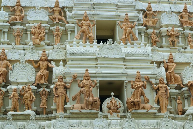 Closer look at small Hindu statues on display at Singapore