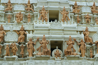 Closer look at small Hindu statues on display at Singapore