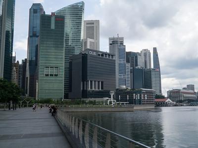 Walking around the marina in Singapore