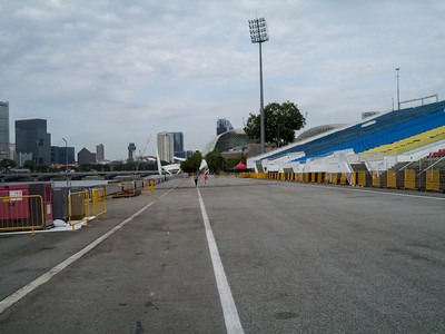 Looking back towards turn 17