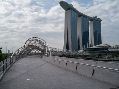 Bridge across to the  Marina Bay Sands hotel