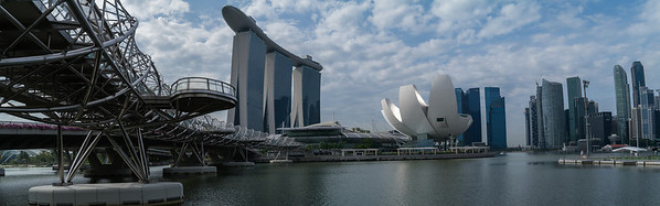 Pan of the Marina Bay Sands.