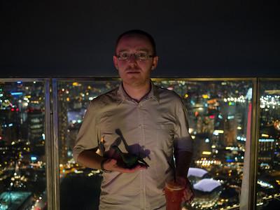 Jonty with Dyno Saur at 1-Altitude, Singapore
