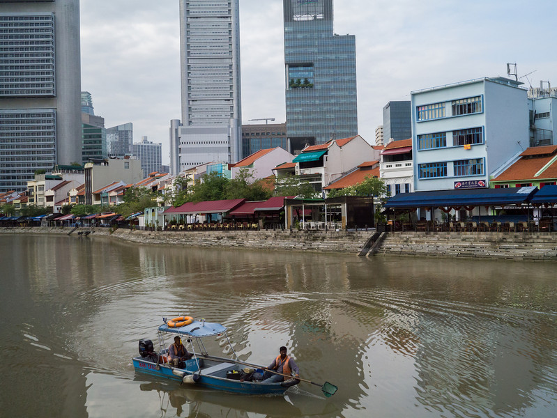 Small boat on the Singapore river