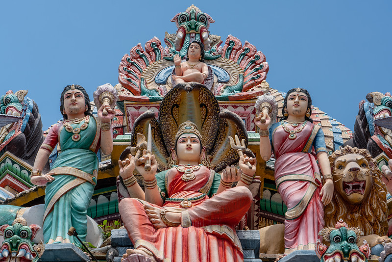 Exterior detail of the Sri Mariamman Temple.