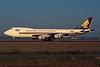 """9V-SFE Boeing 747-412F """"Singapore Airlines Cargo"""" c/n 28263 Amsterdam/EHAM/AMS 22-04-05 """"Memeber of WOW"""" (35mm slide)"""