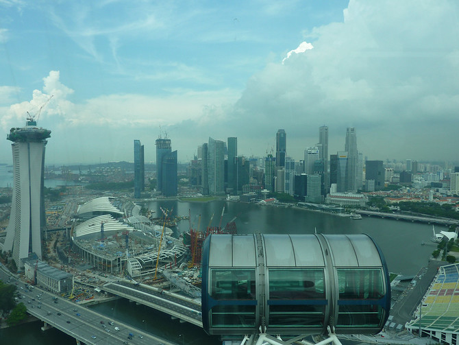 Singapore City View From Singapore Flyer