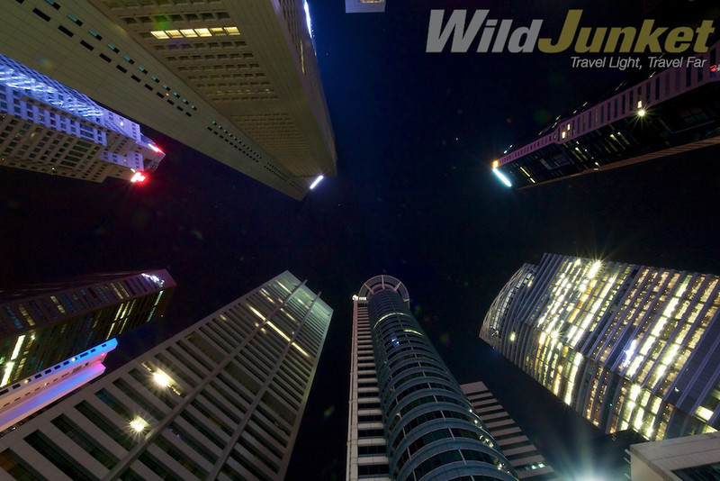 Looking up at Raffles Place, Singapore