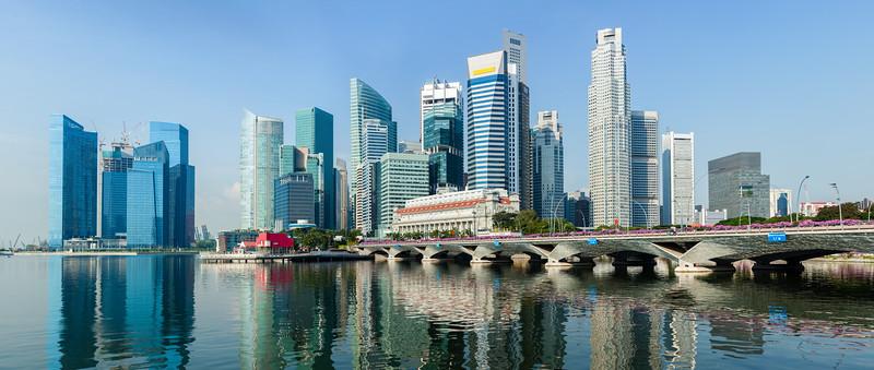 Singapore business center panorama