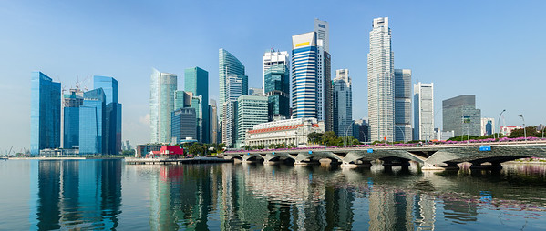 Singapore business center panorama