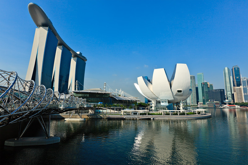 Marina Bay Sands hotel and casino and ArtScience Museum, Singapore