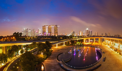 Panorama of Singapore skyline