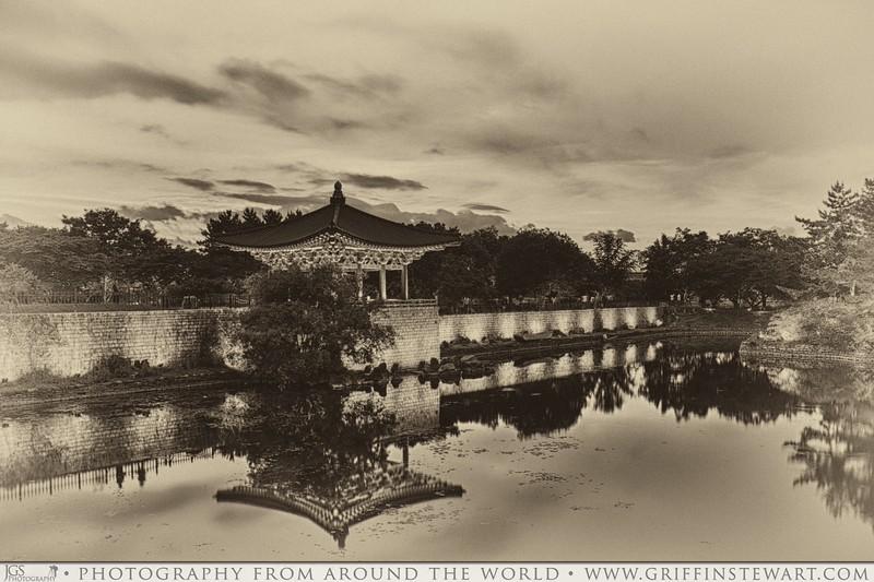 Anapji Pond, Ancient, Culture, Gyongju, History, Korea, Palace, South Korea, Sunset, Old Fashioned