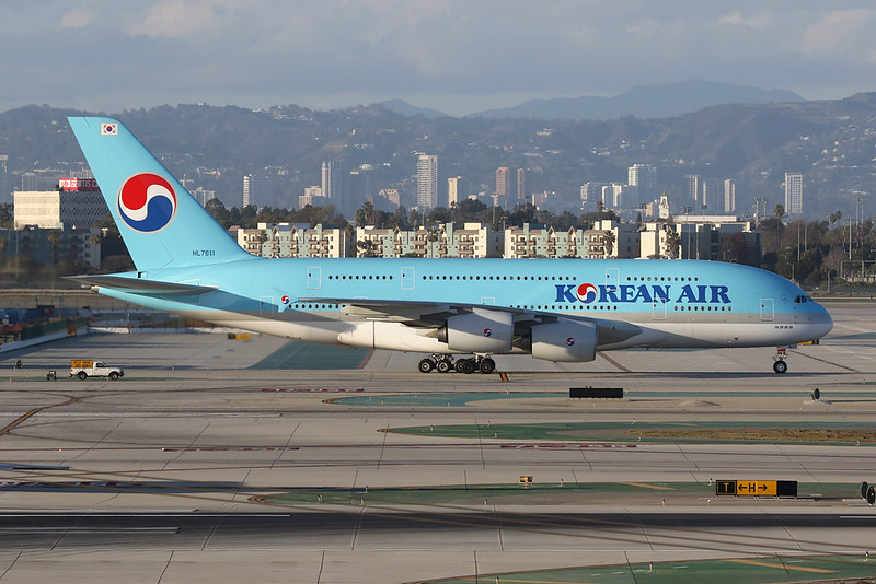 HL7611 Airbus A380-861 c/n 035 Los Angeles/KLAX/LAX 25-01-18