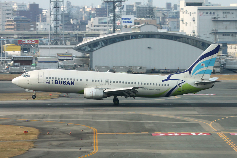 "HL7510 Boeing 737-48E ""Air Busan"" c/n 25771 Fukuoka/RJFF/FUK 11-01-14"