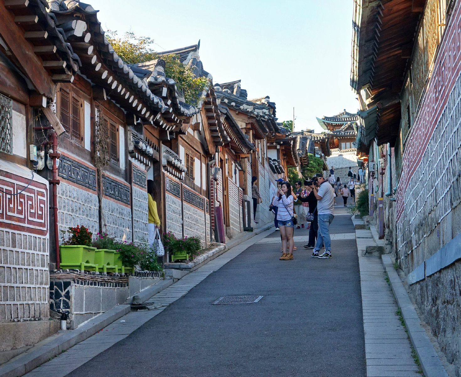 Bukchon is a living residential neighbourhood and most hanoks are people's homes.