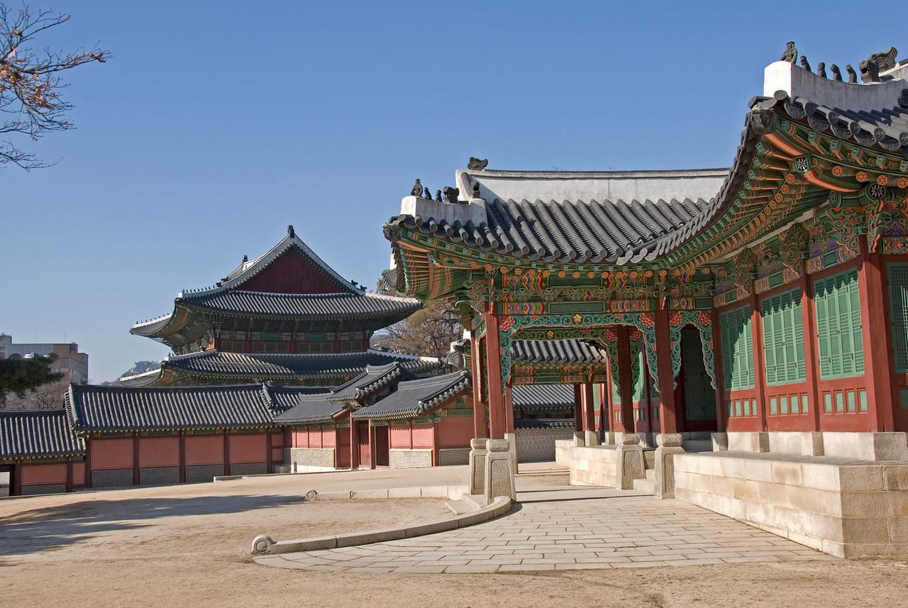Details inside the Changdeok Palace ground - Seoul, South Korea