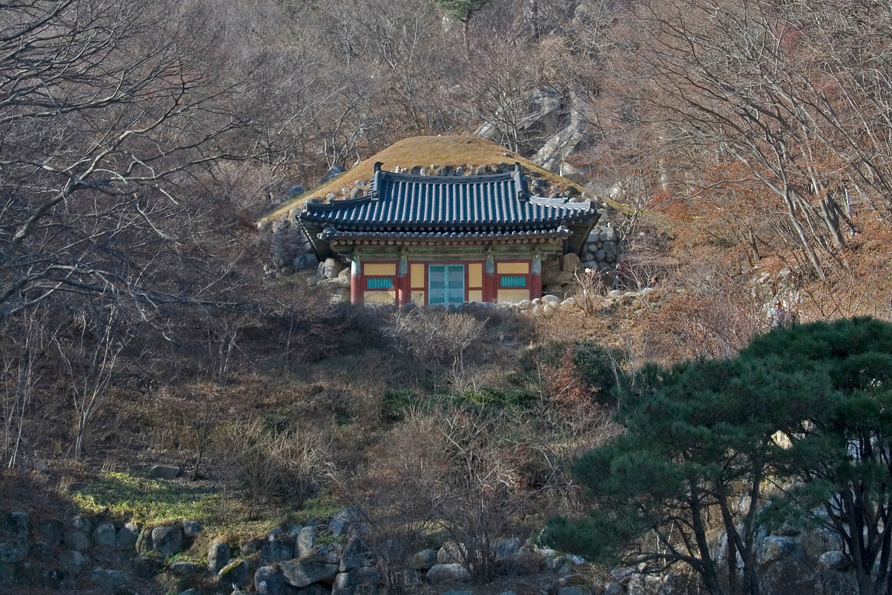 Seokguram Grotto on a hillside - Gyeongju, South Korea
