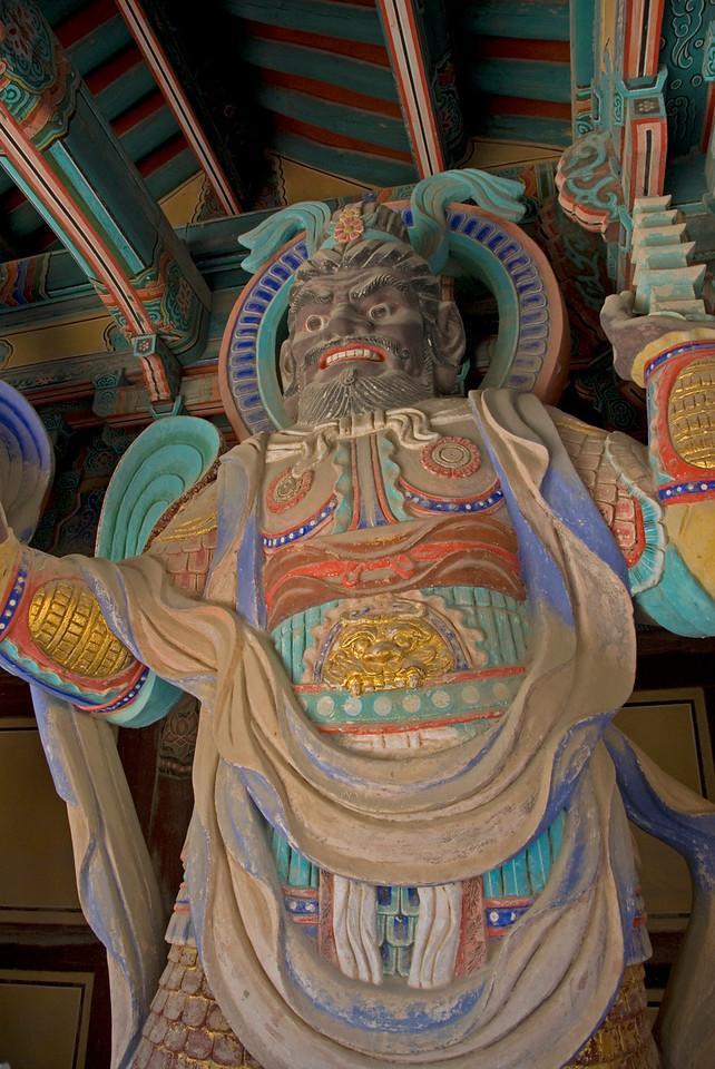 Lifesize guardian sculpture at Gulguksa Temple  Gate - Gyeongju, South Korea
