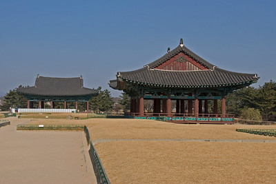 Imhaejeon Site and grounds at Gyeongju, South Korea