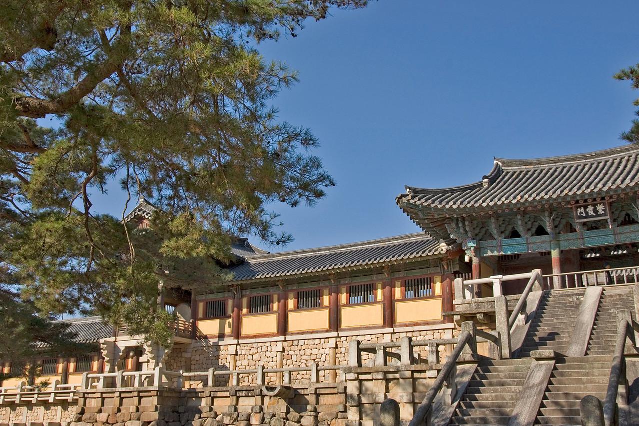 The view outside Gulguksa Temple - Gyeongju, South Korea
