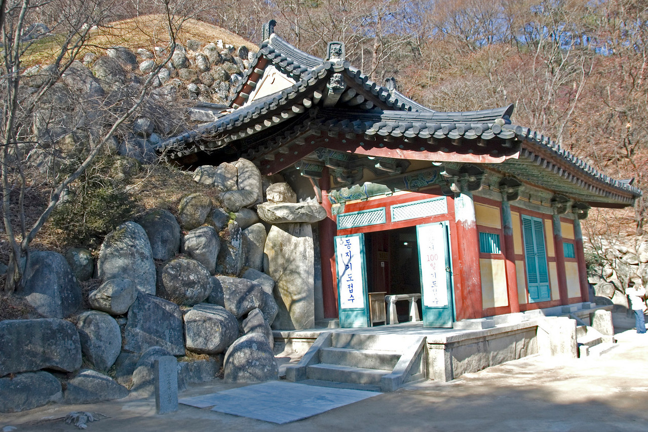 Closer view of the Seokguram Grotto - Gyeongju, South Korea