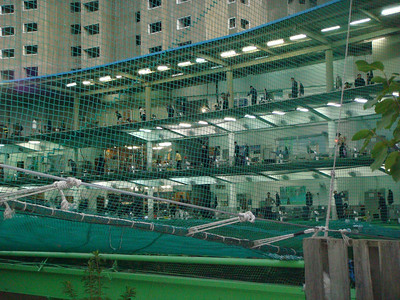 Indoor golf range in Busan, South Korea