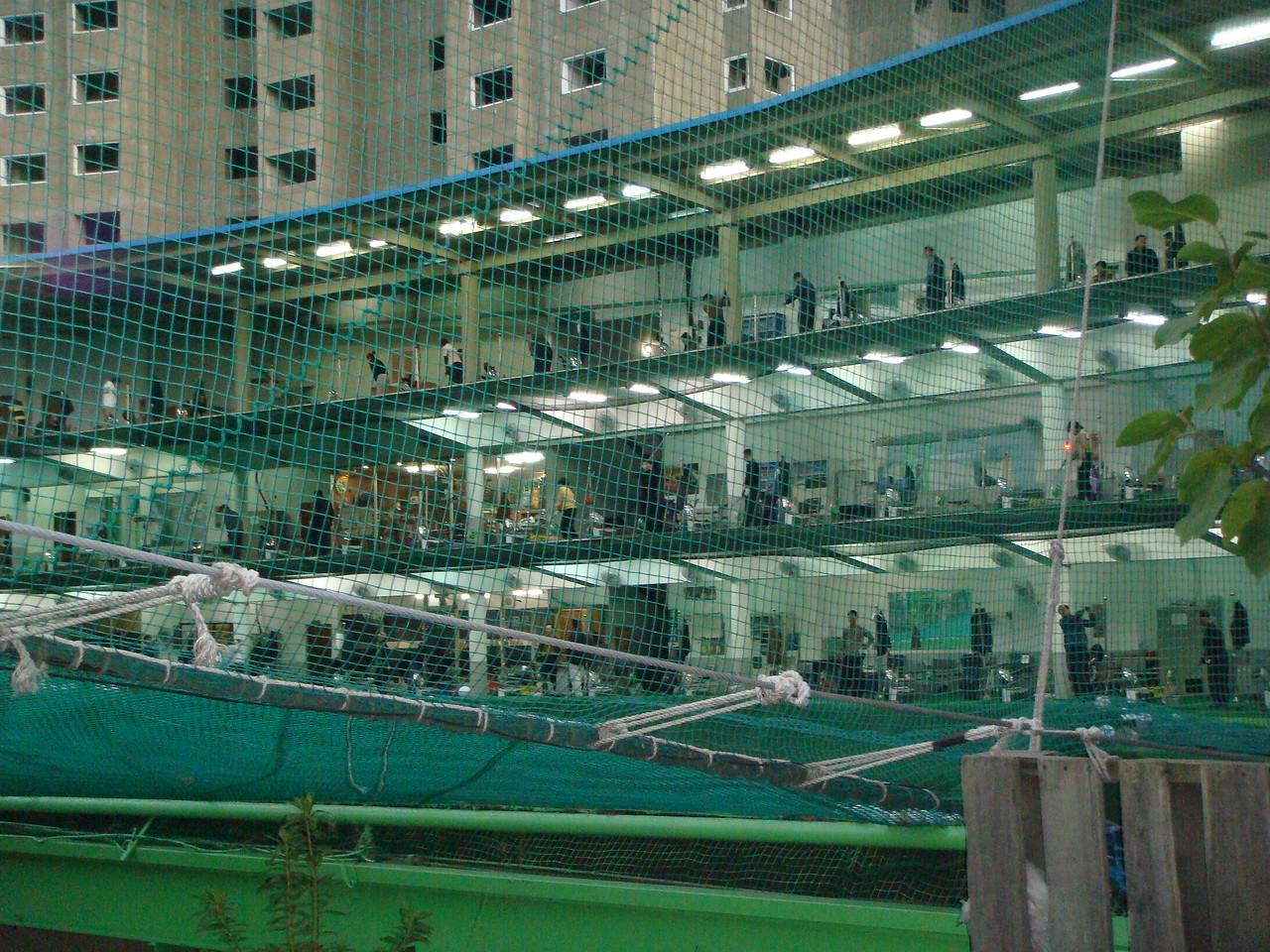 Indoor golf range in Busan, South Korea