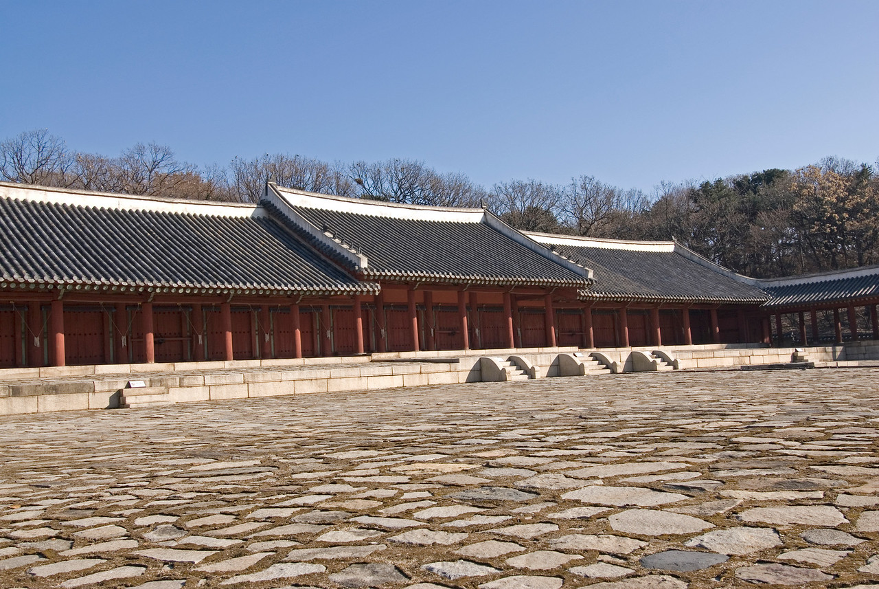 Calm and serene Jongmyo Shrine - Seoul, South Korea
