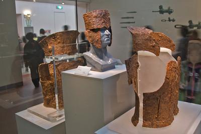 Armor display inside the National Museum - Gyeongju, South Korea