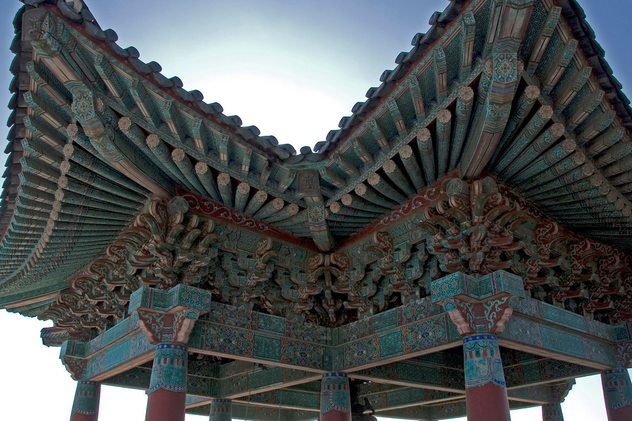 Elaborate roof design at Seokguram Grotto Bell Tower - Gyeongju, South Korea