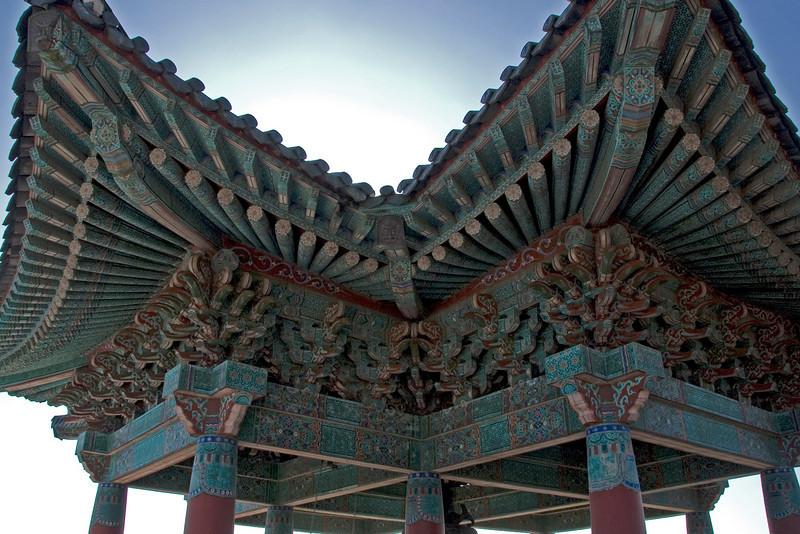 Elaborate roof design at Seokguram Grotto Bell Tower - Gyeongju, South Korea