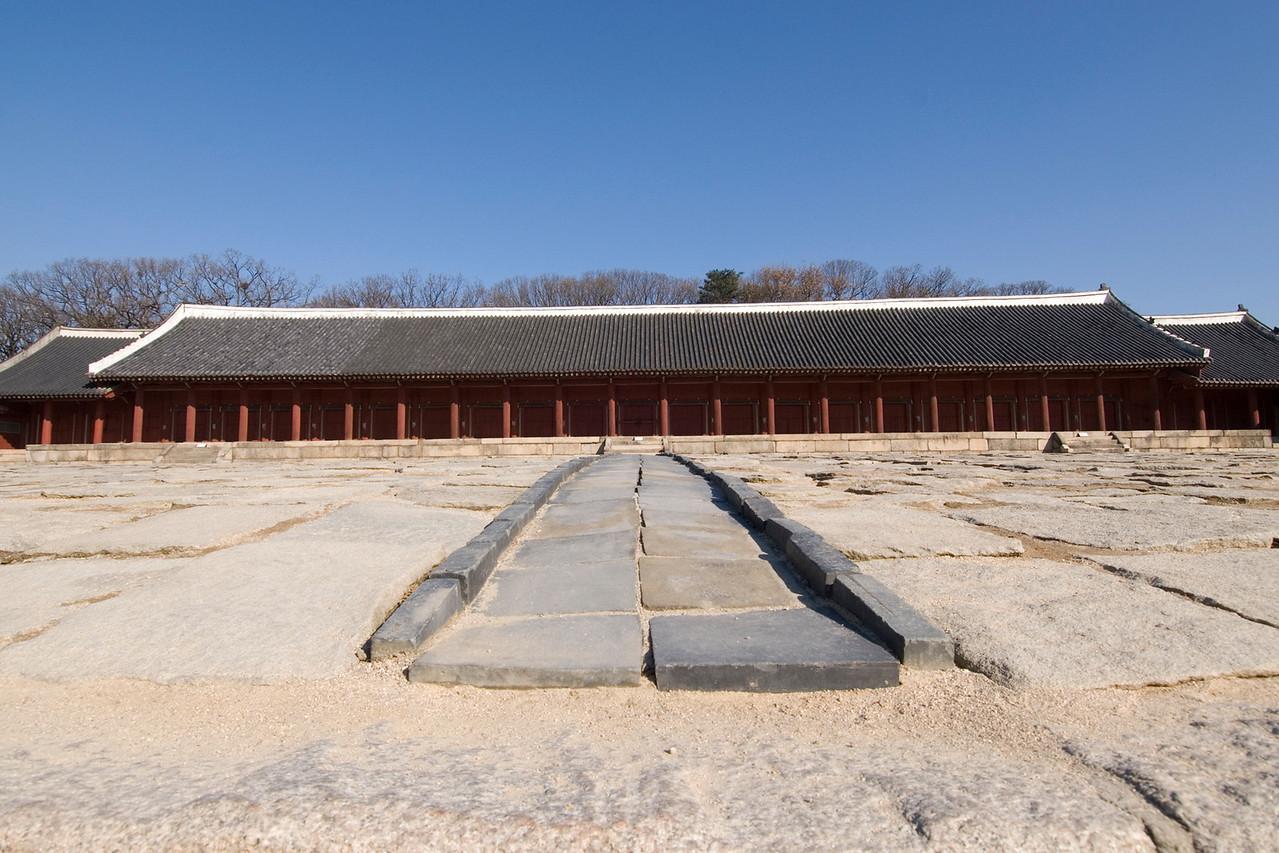 The path to entrance of Jongmyo Shrine - Seoul, South Korea