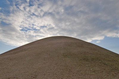 Close-up shot of one of the burial mounds - South Korea