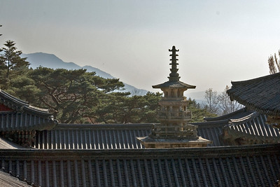 Stone Pagoda at the rooftop of Gulguksa Temple - Gyeongju, South Korea