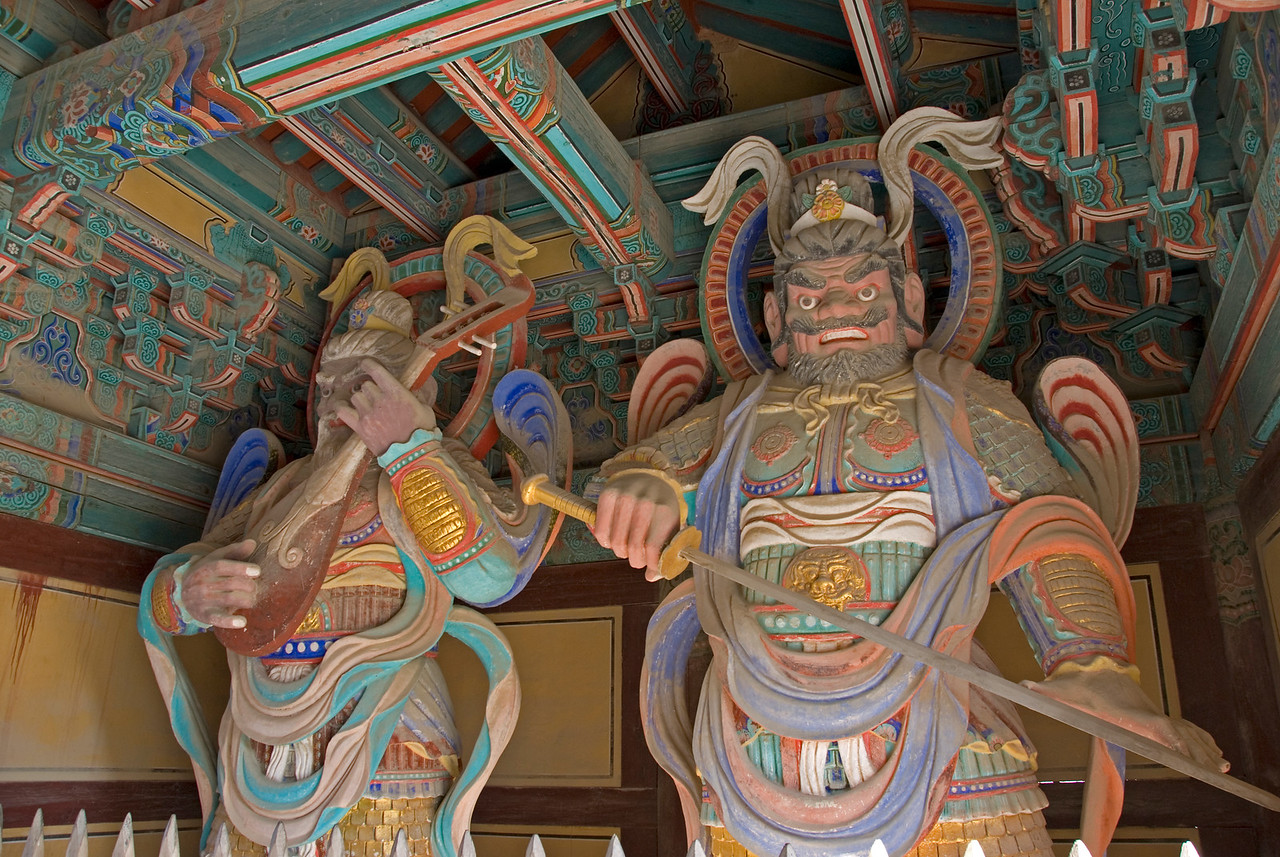 Guardian sculpture at Gulguksa Temple  Gate- Gyeongju, South Korea