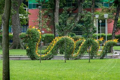 Ho Chi Minh City - Tao Dan Park dragon