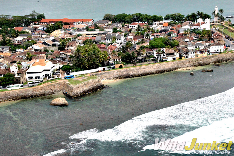 The colonial town of Galle