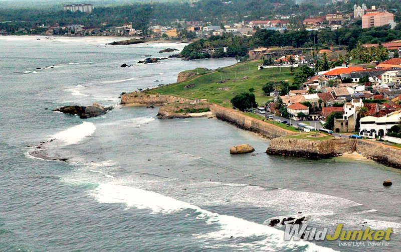 Above the Galle fort walls