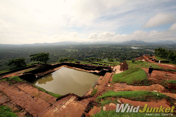 The view from the top of Sigiriya Rock