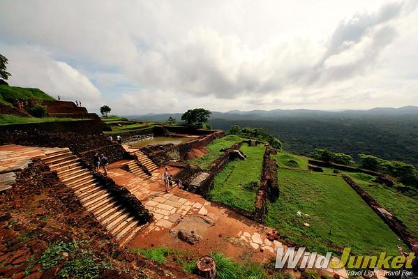 Ruins on the summit of Sigiriya