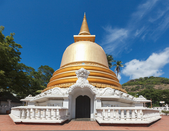 Buddhist dagoba (stupa) in Golden Temple, Dambulla, Sri Lanka