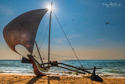 Negombo Beach Oruwa Boat