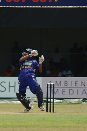 Dilshan tried to hit the ball so hard during this ODI against Bangladesh that he was unable to hold onto his bat. He was out.
